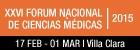 XXVI FORUM NACIONAL DE CIENCIAS MÉDICAS